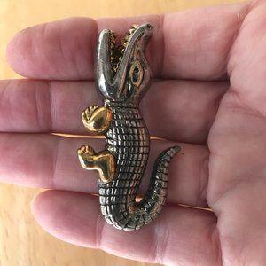 Jewelry - Alligator Pendant Pin Vintage Florida Gator Mascot